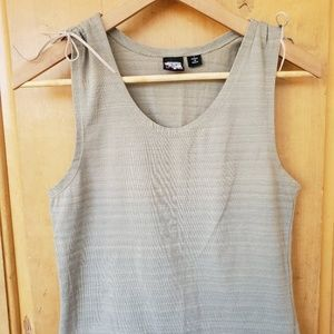 Volcom green and cream tank with shoulder ties